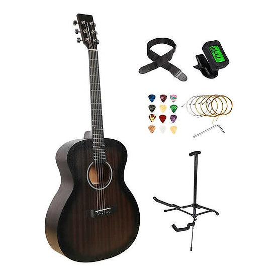 "Power Acoustik Aural Series Raven 41"" Acoustic Guitar Bundle"