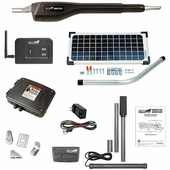 Mighty Mule Medium Duty Smart Solar Single Gate Opener, Model RANGER 7S