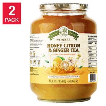 Vonbee Honey Citron & Ginger Tea 4.4 lb 2-pack