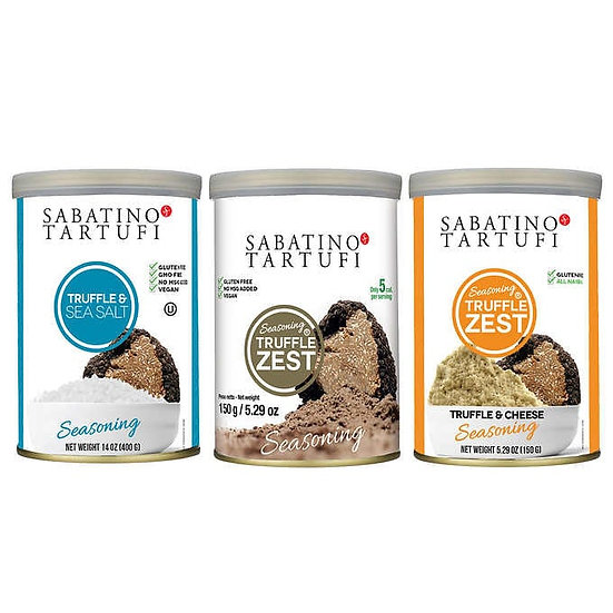 Sabatino Truffle Seasoning Blend 3 X 5.29 oz. Containers
