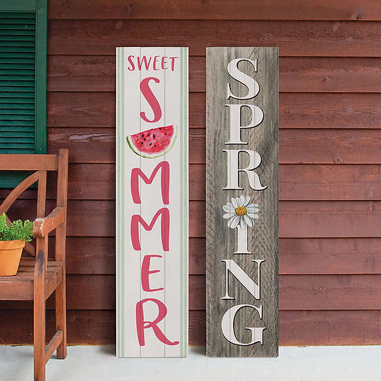 Double Sided Porch Sign, 2-pack