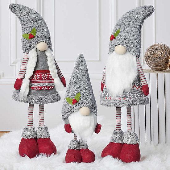 Holiday Gnomes, Set of 3, Christmas