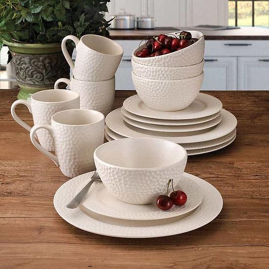 Gourmet Basics by Mikasa Hayes 16-piece Dinnerware Set