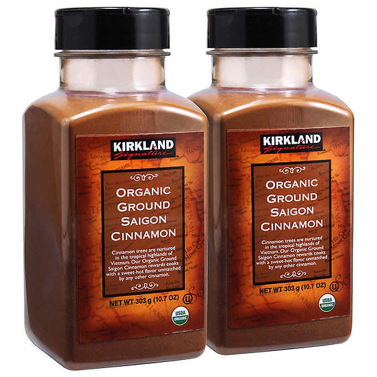 Kirkland Signature Organic Ground Saigon Cinnamon, 10.7 oz., 2-count