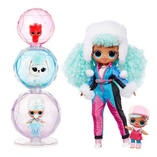 L.O.L. Surprise! O.M.G. Winter Chill Fashion Doll Bundle, Icy Gurl