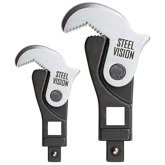 Steel Vision 2-piece Drive Spring Jaw Crowfoot Set
