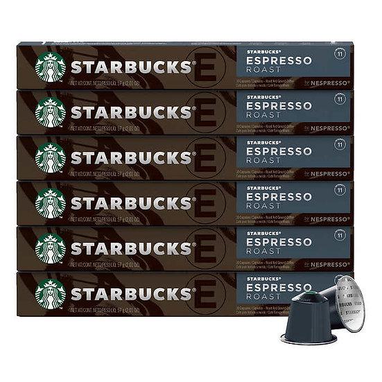 Starbucks by Nespresso Espresso Roast Capsules, 60-count