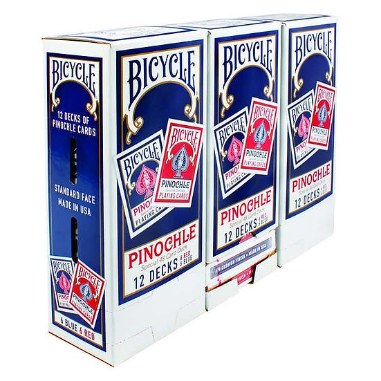 Bicycle Pinochle Playing Cards 3-pack (36 Decks)