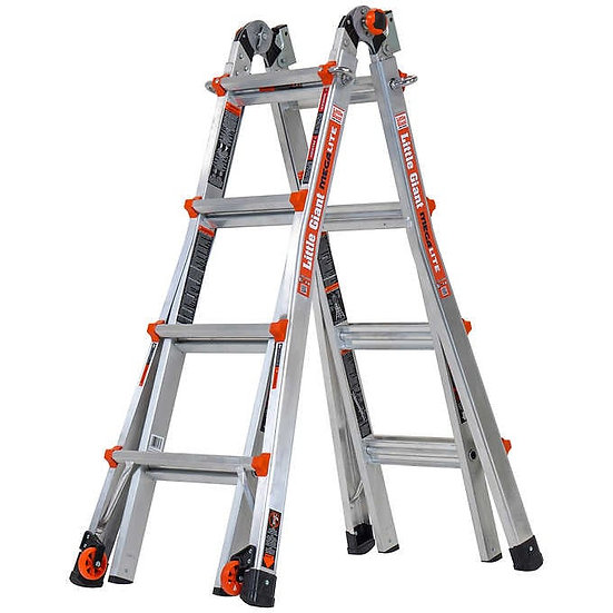 Little Giant MegaLite 17 Ladder with Tip & Glide Wheels