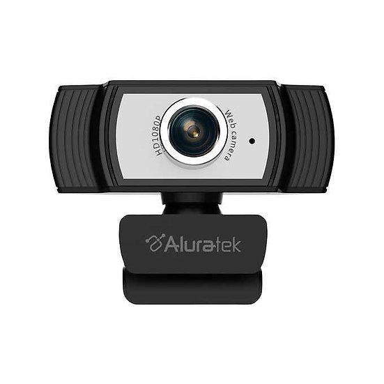Aluratek HD 1080P USB Webcam with Built-In Mic, Tripod Ready
