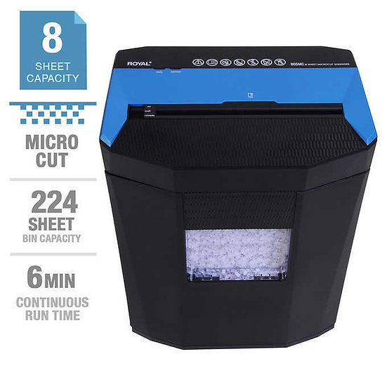 Royal 805MC 8-Sheet Microcut Shredder, Shreds Credit Cards and Staples