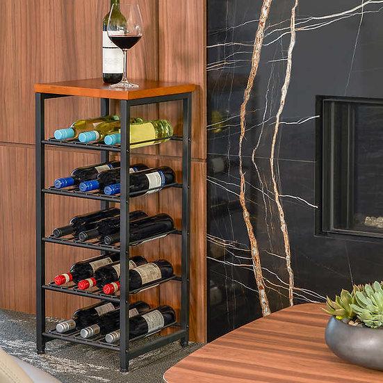 Neatfreak 15 Bottle Metal & Wood Wine Rack