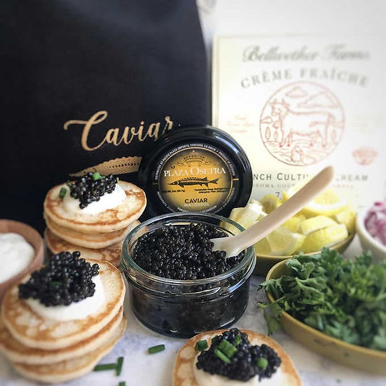 Plaza Osetra Farmed Bulgarian Sturgeon Caviar, 2 oz Gift Set