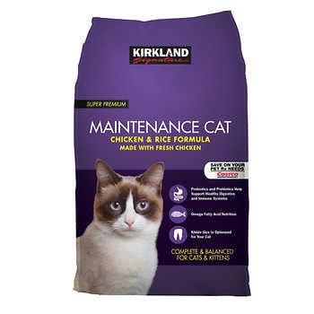 Kirkland Signature Chicken and Rice Cat Food 25 lbs.