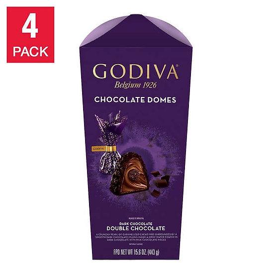 Godiva Premium Double Chocolate Domes Flower Box 15.6 oz 4-pack