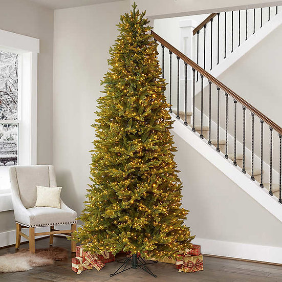 9' Pre-Lit Micro LED Slim Artificial Christmas Tree