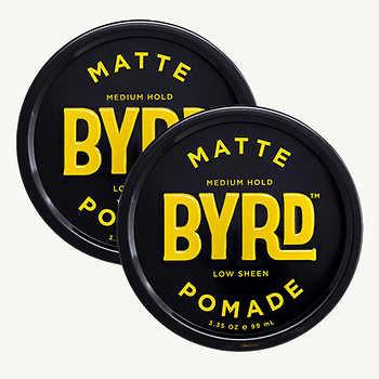 BYRD Matte Pomade 3.35 oz, 2-pack