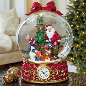 Holiday Santa Globe