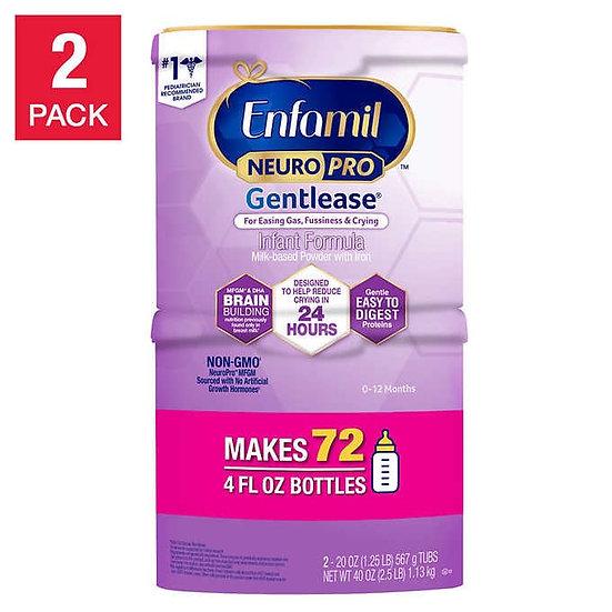 Enfamil NeuroPro Infant Gentlease Formula 20 oz, 2-pack
