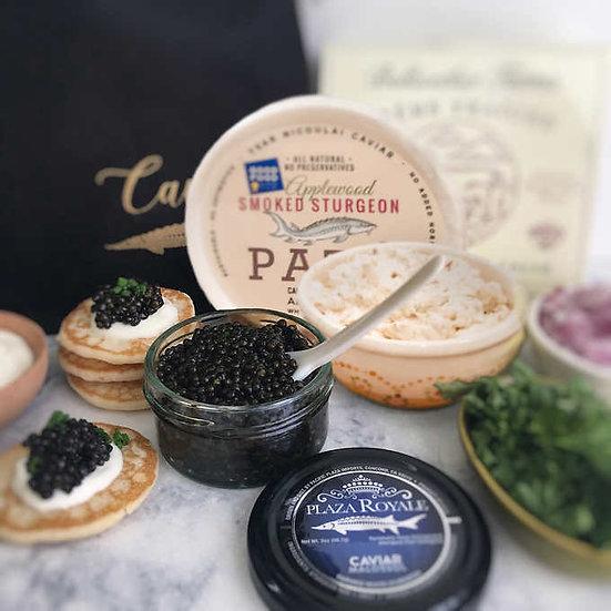 Plaza Royale Farmed White Sturgeon Plaza Royale Caviar, 2 oz Gift Set