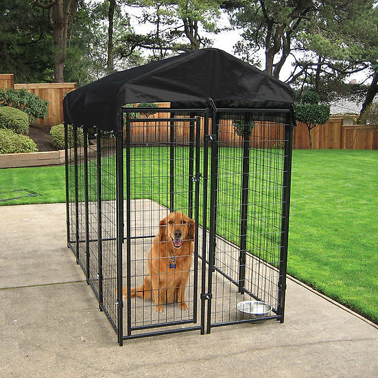 Lucky Dog Uptown Welded Wire Box Kennel, 6' H x 8' L x 4' W