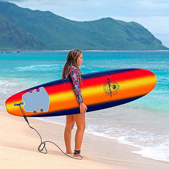 Wavestorm 8' Classic Surfboard Navy Sunburst