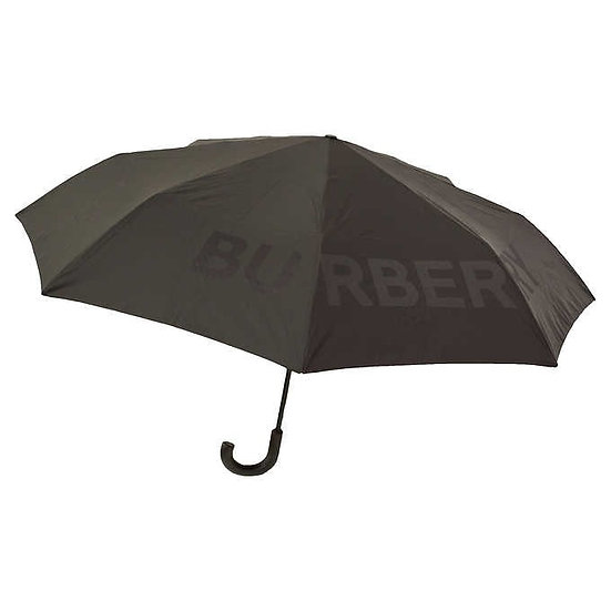 Burberry Kingdom Print Folding Umbrella, Black