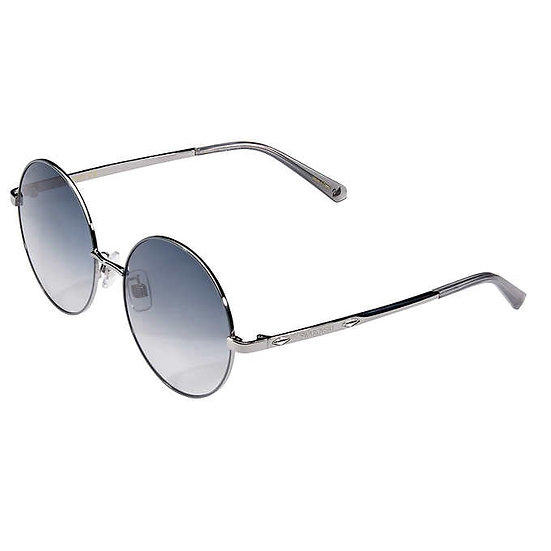 Swarovski SK0301 Shiny Dark Ruthenium Sunglasses, Women's