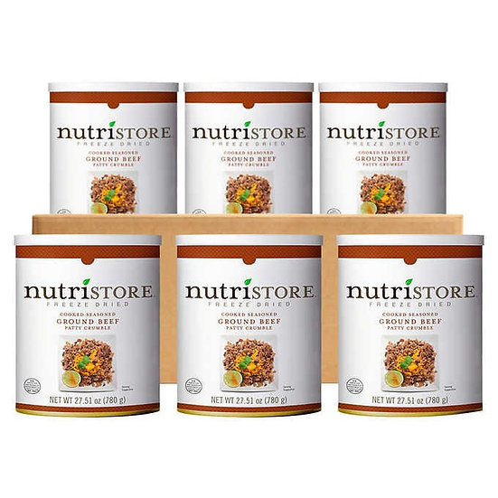 Nutristore Freeze Dried Cooked Ground Beef 6-count
