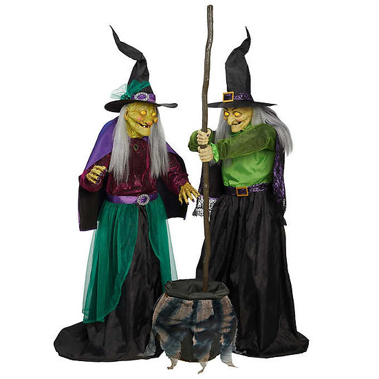 Animated Cauldron Witches, Halloween