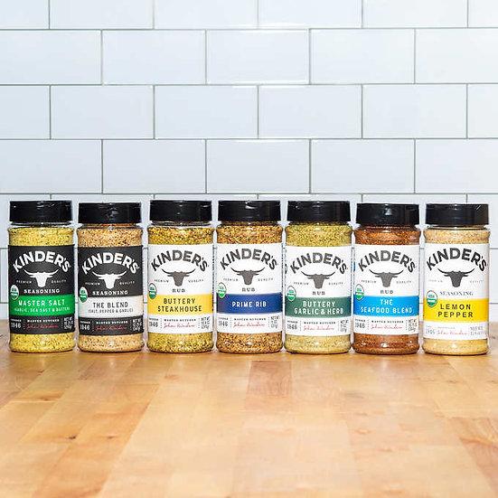 Kinder's Butcher's Pantry USDA Organic Rubs and Seasonings Variety Pack