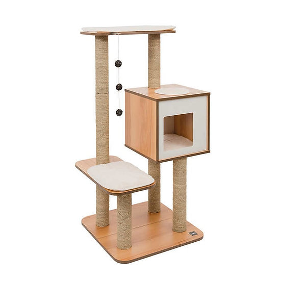 Vesper High Base Cat Tree - Walnut