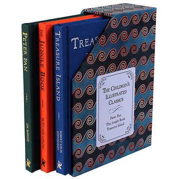 The Children's Illustrated Classics: Peter Pan, The Jungle Book, Treasure Island