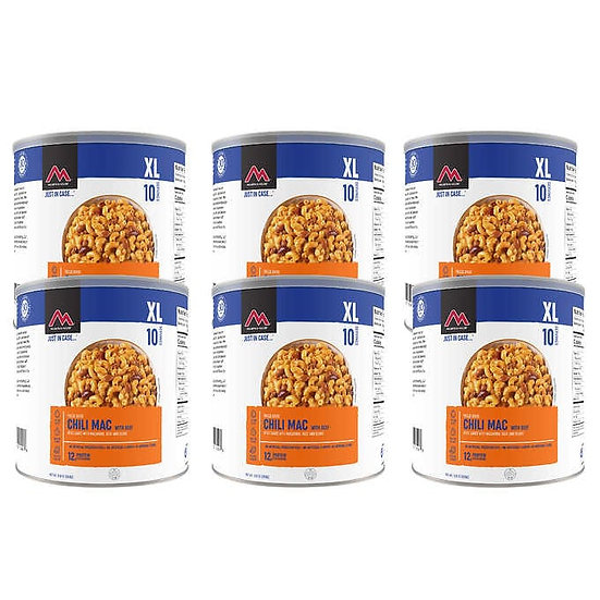 Mountain House Freeze Dried Chili Mac with Beef 6-count