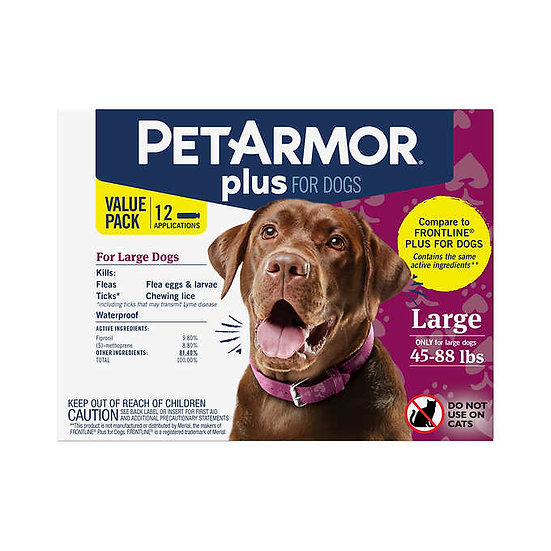 PetArmor Plus Flea, Tick and Lice Formula for Dogs 45-88 lbs.