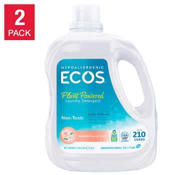 ECOS HE Liquid Laundry Detergent, Magnolia & Lily, 210 loads, 210 fl oz, 2-count