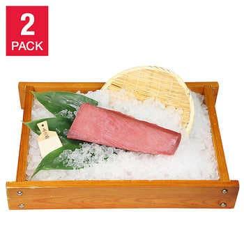 Sashimi Grade Super Frozen Yellowfin Tuna 1 lb, 2-pack