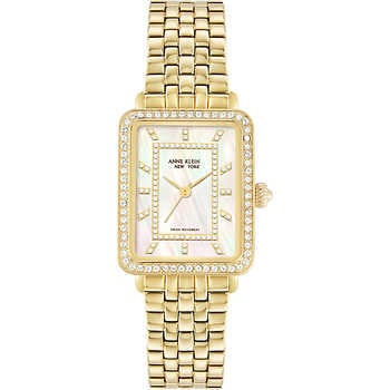 Anne Klein New York Tank Mother-of-Pearl Dial Ladies Quartz Watch