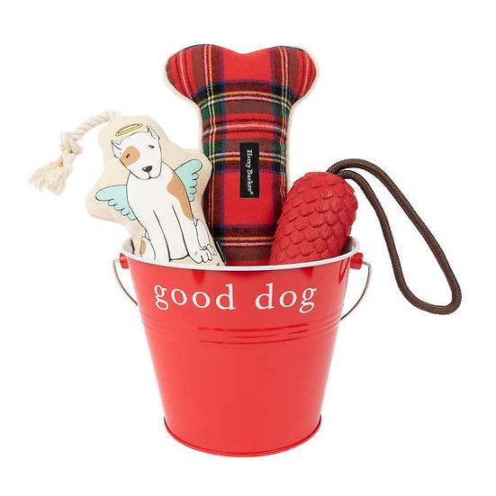 Harry Barker Good Dog Gift Bucket Bundle, Dog Toys