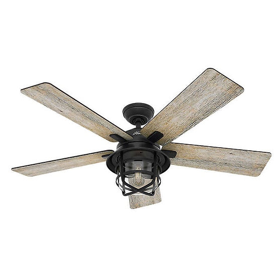 """Hunter Coral Gables LED 54"""" Indoor and Outdoor Ceiling Fan, Model  59598"""