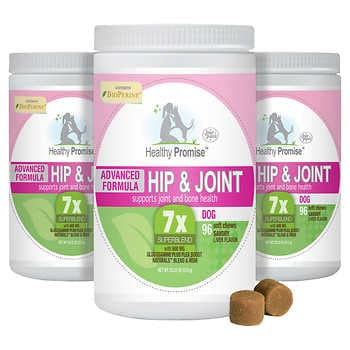 Four Paws Healthy Promise Advanced Hip & Joint Soft Chews For Dogs, 96 Ct. 3-Pk.