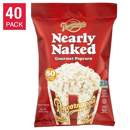 Popcornopolis Nearly Naked Popcorn 0.55 oz, 40-pack