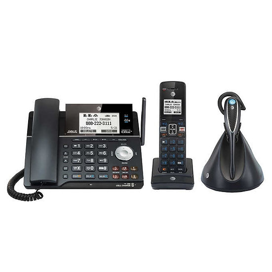 AT&T TL87203 DECT 6.0 2-Line Answering System with Cordless Headset