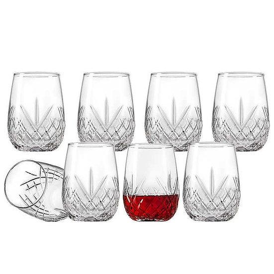 Godinger Dublin 8-piece Stemless Wine Glasses