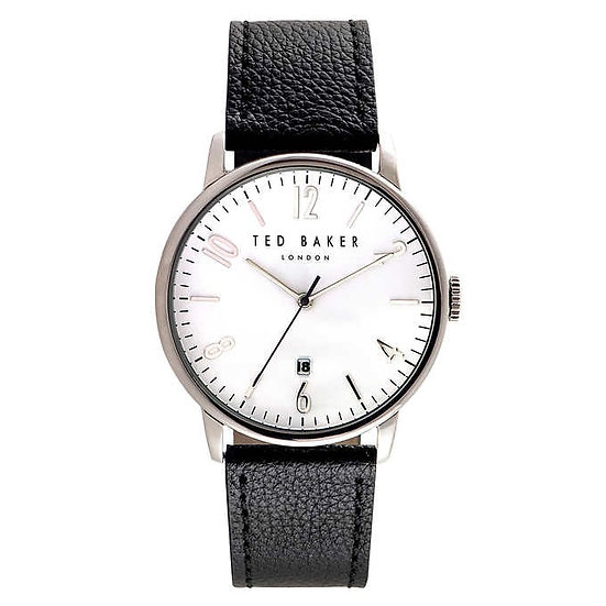 Ted Baker Black Leather Strap Men's Watch