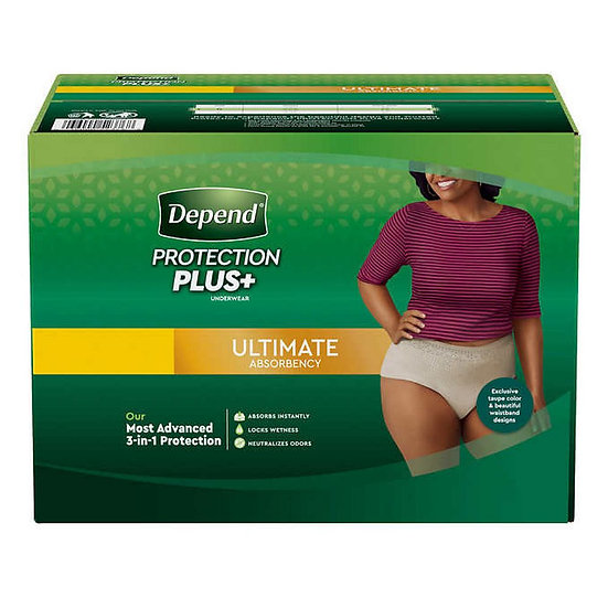 Depend Protection Plus Ultimate Underwear for Women