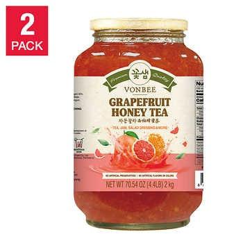 Vonbee Grapefruit and Honey Tea 4.4 lbs, 2-pack
