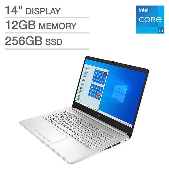 "HP 14"" Laptop - 11th Gen Intel Core i5-1135G7 - 1080p"