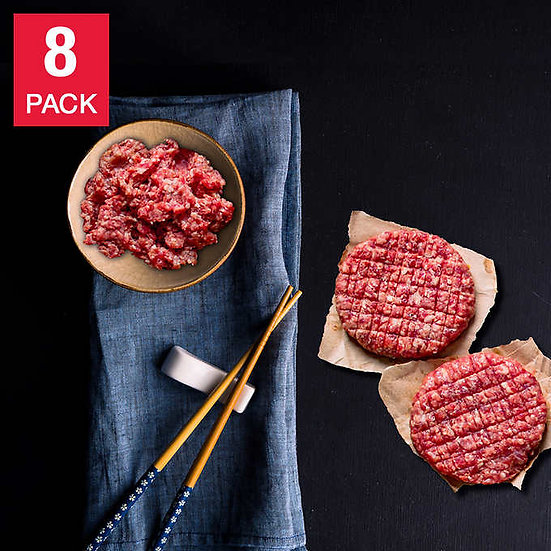 Authentic Wagyu Japanese A5 Ground Beef 1 lb, 8-pack, 8 lbs total