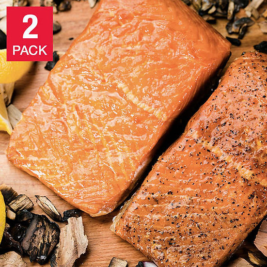Taste of Scotland Hot Smoked Salmon Duo Pack, 3.75 lbs